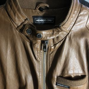 Members Only brown leather jacket. for Sale in Atlanta, GA
