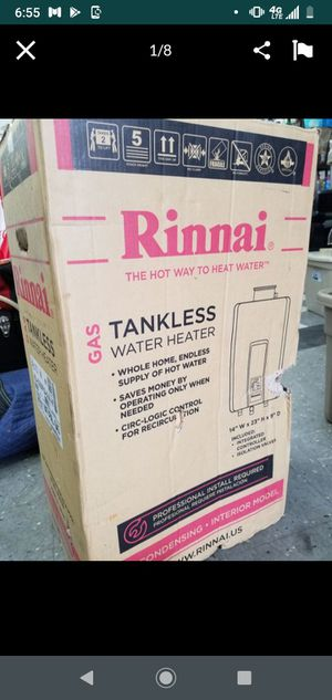 Rinnai tankless water heater 180k BTU for Sale in Tacoma, WA