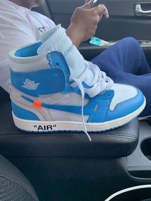 Off white Air Jordan Unc 1's for Sale in Ladera Heights, CA