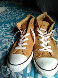Genuine leather converse all stars for Sale in West Palm Beach, FL