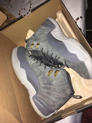 grey jordan 12 sz 8 for Sale in Chelsea, MA