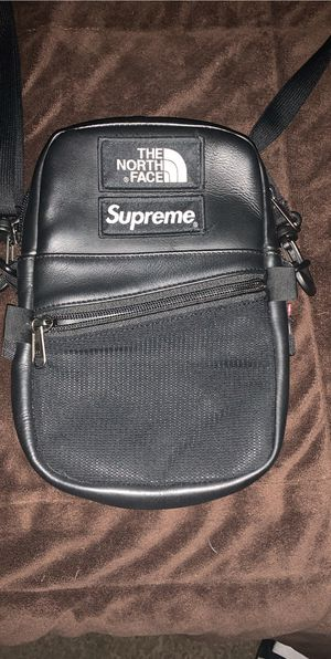Supreme Northface Leather side bag for Sale in Walnut, CA