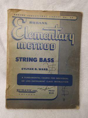 Bass Guitar string upright Instruction book Vintage for Sale in Philadelphia, PA