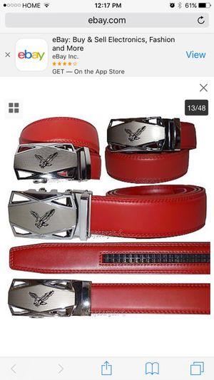"""Item description """"Men's belt. Leather Dress Belt. Automatic Lock, Eagle Belt Buckle. Quick release lever lets the belt slide on, off, or adjust with for Sale for sale  New York, NY"""