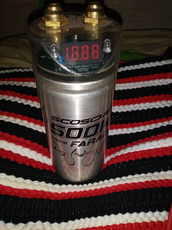 *SCOSCHE CAPACITOR 500K MICRO FARAD (CAR AUDIO)