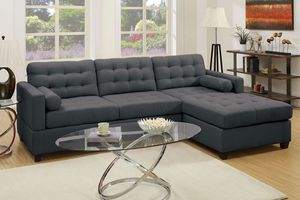 F 7587 SECSIONAL SOFA COLOR SLATE BLACK ☎️ 1714586*2564 ☎️ 1714650*7316 for Sale in Buena Park, CA