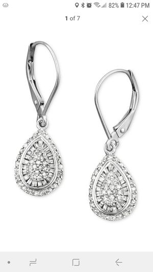 White gold diamond earings for Sale in Vancouver, WA