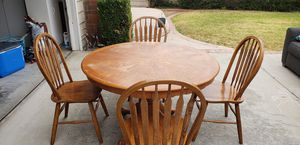 Solid Wood Dining Table and 4 Chairs for Sale in Poway, CA