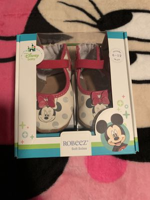 Like New Minnie Mouse Robbeez Baby Shoes for Sale in River Grove, IL