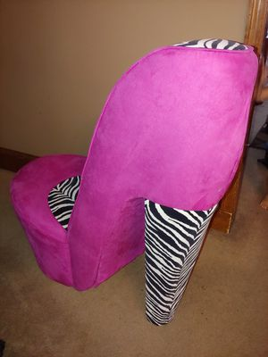 High heel chair zebra and pink for Sale in Burlington, NJ
