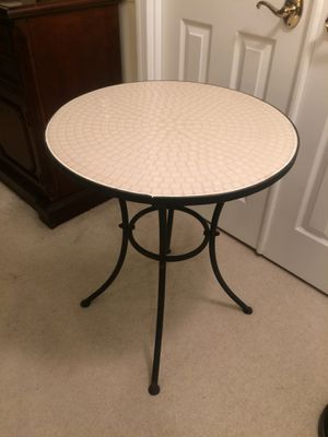 Tiled side table / outdoor patio table for Sale in Arlington, VA
