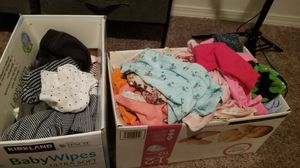 2 Boxes of babygirl Clothings sizes Newborn some 0-3months 82pieces for Sale in Tacoma, WA