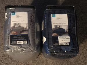 (2) TWIN / TWIN XL - $25.00 EACH - REVERSIBLE COMFORTER SETS - NEW IN THE PACKAGES for Sale in Largo, FL