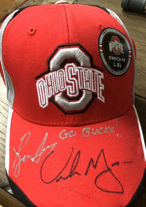 Ryan Day & Urban Meyer autographed Buckeyes hat for Sale in Blacklick, OH