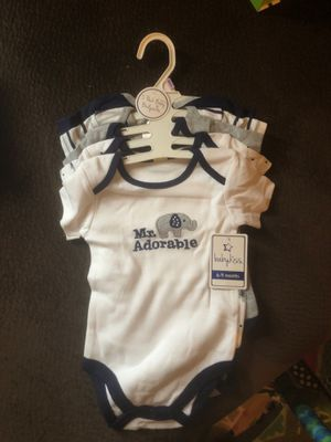 Baby Kiss 6-9 month 5 pack onesie for Sale in Madison, WI