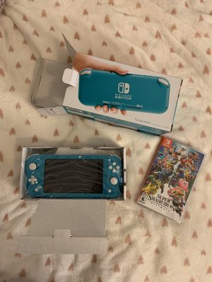 Nintendo Switch Lite And Super Smash Bro's Game for Sale in Ontario, CA