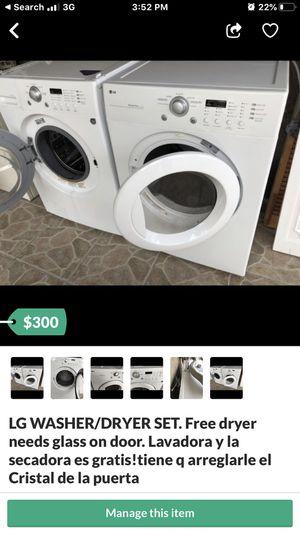 LG WASHER/DRYER SET. Lavadora y secadora. WEST KENDALL for Sale in Miami, FL