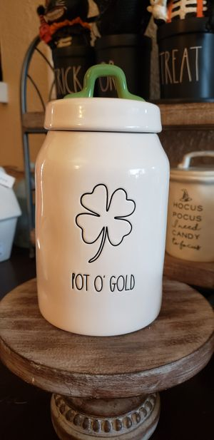 Rae Dunn Pot O Gold skinny canister for Sale in Tacoma, WA