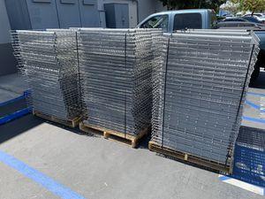 "100 ULINE Pallet Rack Wire Decking - 52"" Wide, 36"" Deep Warehouse for Sale in Irvine, CA"