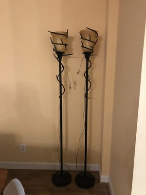 2 floor lamps for Sale in North Bethesda, MD