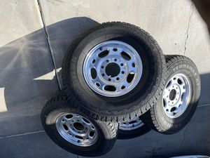 Rims and tires 8 bolt pattern LT265/75R16 tires for Sale in Fort McDowell, AZ