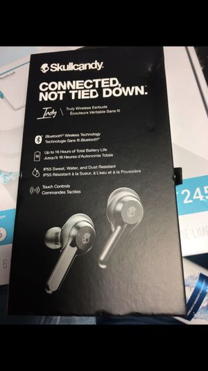 new SKULL CANDY TRULY WIRELESS EARBUDS sealed in box for Sale in Portland, OR