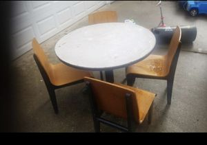 Free TABLE AND 4 CHAIRS for Sale in Tacoma, WA
