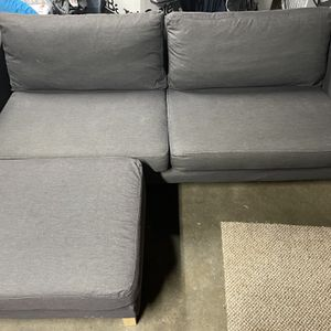 Karlstad IKEA Sofa w/Ottoman for Sale in Vancouver, WA