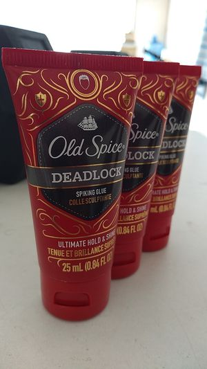 Old Spice Deadlock Spiking Glue Ultimate Hold and Shine. 3-Pack for Sale in Cerritos, CA