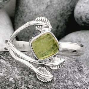Leaves - Green Kyanite Rough 925 Ring for Sale in San Francisco, CA