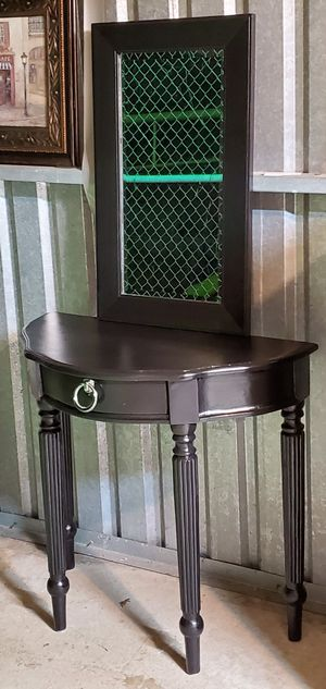 Vanity entryway table refinished black for Sale in Cedar Hill, TX