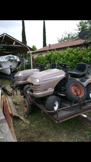 2 Craftsman riding lawn mower for Sale in Beaumont, CA