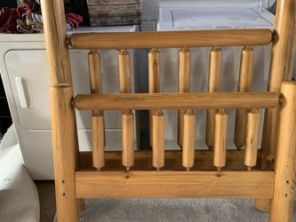 Twin Log Bed Cabin Furniture Solid Wood Bedframe for Sale in Painesville,  OH