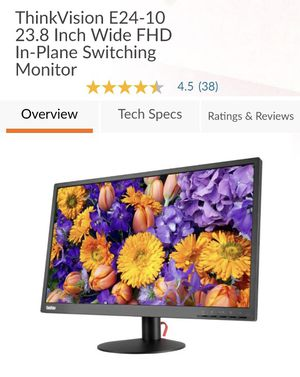 "Lenovo 24"" monitor for Sale in San Leandro, CA"