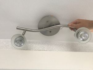 Set of 3 satin nickel ceiling lights for Sale in Lake Forest Park, WA