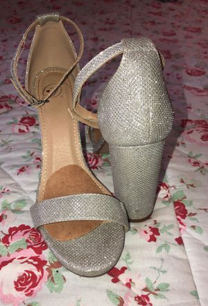 Silver high heels for Sale in Marysville, WA