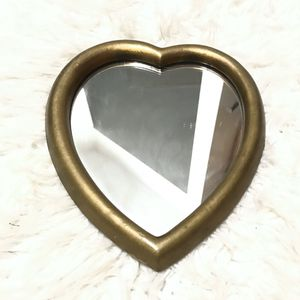 Vintage Italian gold gilt heart shaped wood mirror for Sale in Austin, TX