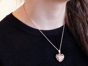 Rose gold plated necklace for Sale in Lake in the Hills, IL