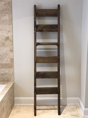 Modern Leaning Ladder Shelf for Sale in Charlotte, NC