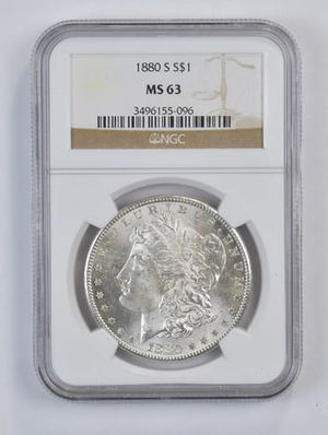 1880-S Morgan Silver Dollar MS-63 for Sale in Rolling Hills, CA