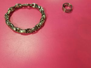 Jewelry means ring, stainless steal bracelet and necklace for Sale in Arvada, CO