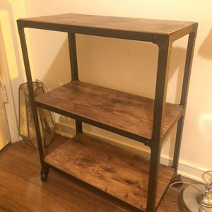 3 Tier Wood Rolling Table for Sale in Culver City, CA