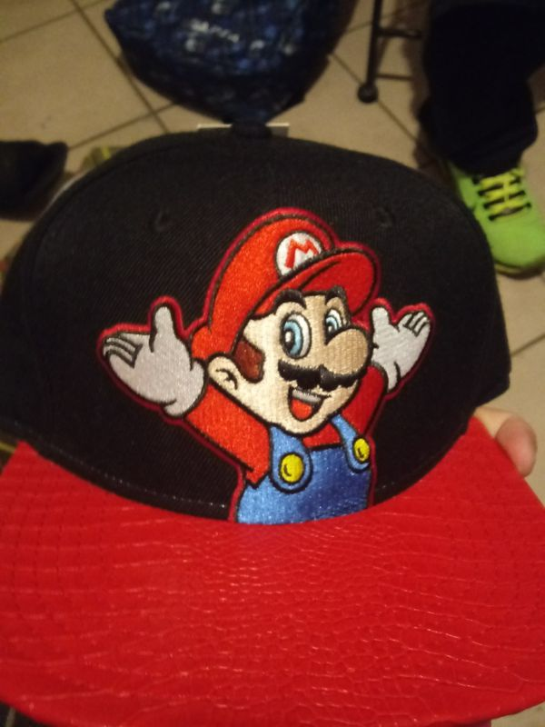 Mario leather hat