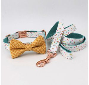 Ice cream cone with sprinkles dog collar, leash, and bow tie set by Luxxpup for Sale in Portland, OR