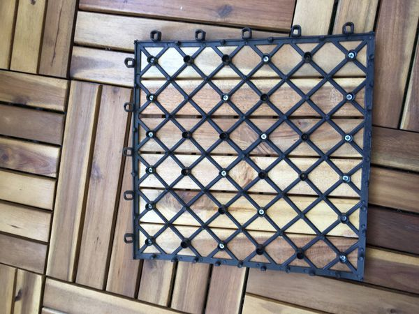 Balcony & patio wooden decking tile