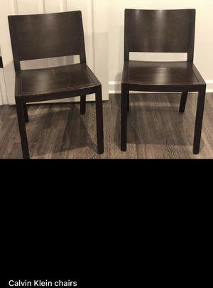 Calvin Klein wood chairs for Sale in Sandy Springs, GA