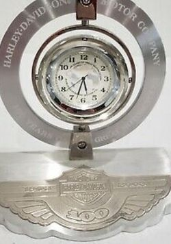 Harley Davidson Bulova 100th Anniversary Rotating Desk Clock W/box for Sale in Macomb,  MI