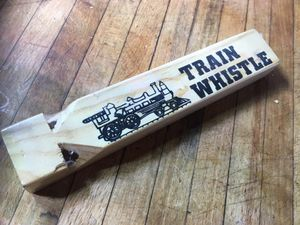 Wooden toy choo choo whistle for kids for Sale in New York, NY