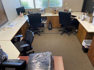 Office Desk Set, File Cabinets, Corner Desks for Sale in Kent, WA