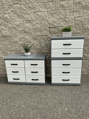 Elegant white gray color drawers dresser furniture for Sale in Lake Elsinore, CA